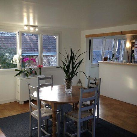 Salle de séjour - Maison refaite à neuf - Elbeuf - ST Immobilier Elbeuf