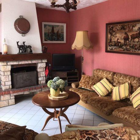 Salon avec cheminée maison Villers sur Mer – ST Immobilier Elbeuf