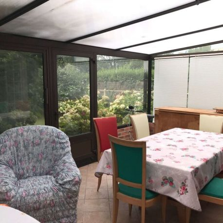 Véranda côté salle à manger maison Villers sur Mer – ST Immobilier Elbeuf