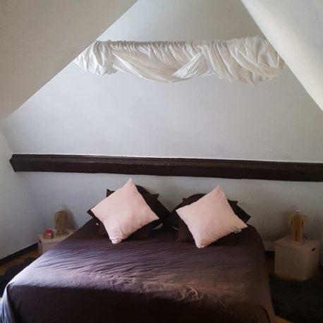 Chambre – maison atypique F4 – St Aubin les Elbeuf – ST Immobilier Elbeuf