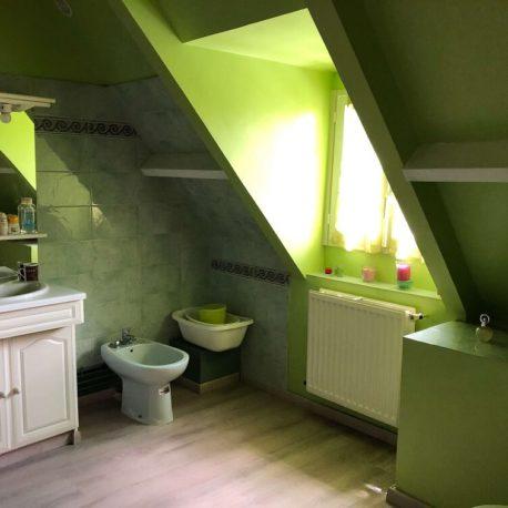 Salle de bains chambre parentale – maison F7 – Sotteville sous le Val – ST Immobilier Elbeuf