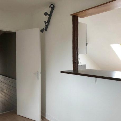 Salle de séjour – appartement F3 – 3ème étage – Caudebec les Elbeuf- ST Immobilier Elbeuf