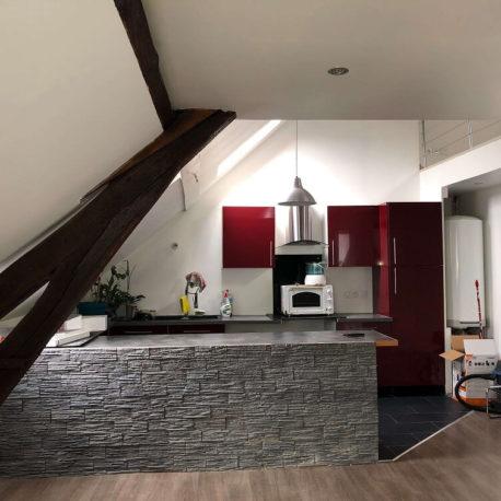 Salle de séjour-salon - F2 bis - Caudebec les Elbeuf - ST Immobilier Elbeuf