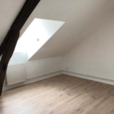 Salle de séjour-salon – appartement F3 – 3ème étage – Caudebec les Elbeuf- ST Immobilier Elbeuf
