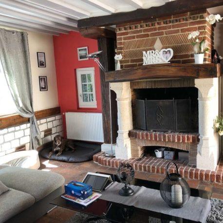 Salle de séjour-salon – maison F7 – Sotteville sous le Val – ST Immobilier Elbeuf