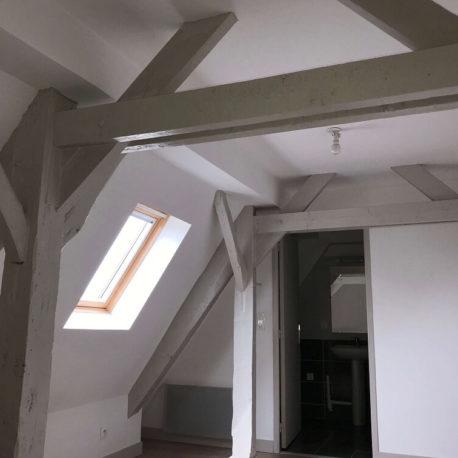 Chambre – appt F2 duplex – Dieppe -Exclusivité – ST Immobilier Elbeuf