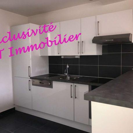 Cuisine équipée et aménagée - appt F2 - rue des Bonnes Femmes - Dieppe Exclusivité - ST Immobilier Elbeuf