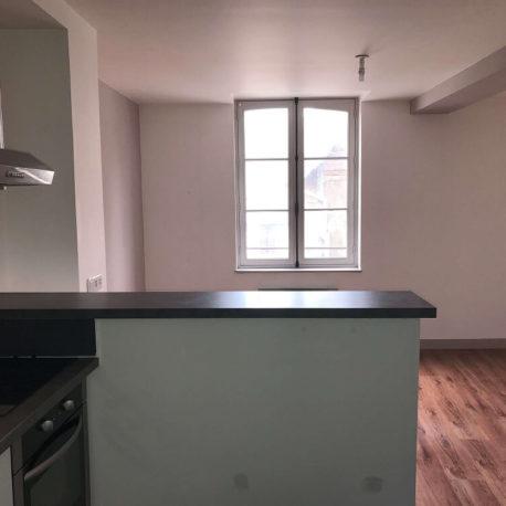 Salle de séjour – appt F2 -rue des Bonnes Femmes – Dieppe Exclusivité – ST Immobilier Elbeuf