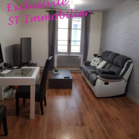 Salle de séjour-salon - appartement F2 - Dieppe - Exclusivité - ST Immobilier Elbeuf