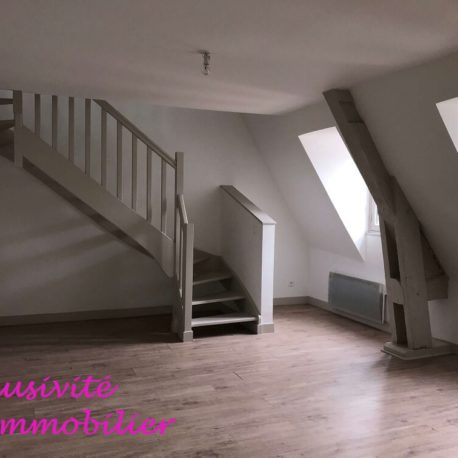 Salle de séjour-salon - appt duplex F2 - Dieppe - Exclusivité - ST Immobilier Elbeuf