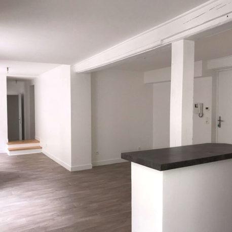 Salle de séjour-salon – appt F3 – Dieppe – Exclusivité – ST Immobilier Elbeufpt F3 – Dieppe