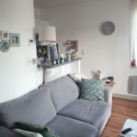 Salon – appt F2 duplex – rue des Bonnes Femmes – Dieppe – Exclusivité – ST Immobilier Elbeuf