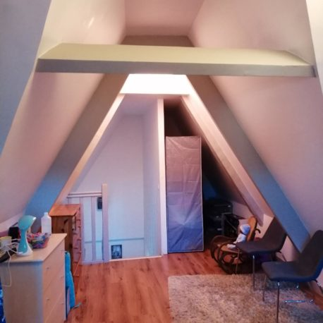 Vue chambre – appt F2 duplex – rue des Bonnes Femmes – Dieppe – Exclusivité – ST Immobilier Elbeuf