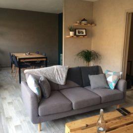 Salon-salle de séjour - appartement F3 - Petit-Couronne - ST Immobilier Elbeuf
