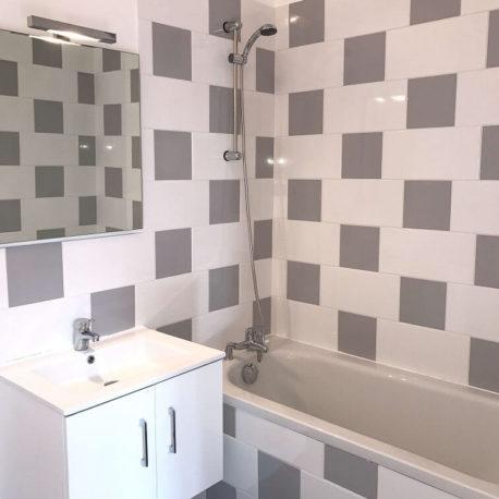 Salle de bains – appartement F3 – Elbeuf – ST Immobilier Elbeuf