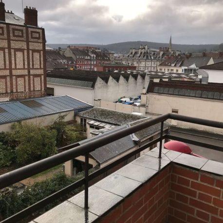 Vue balcon appartement Elbeuf